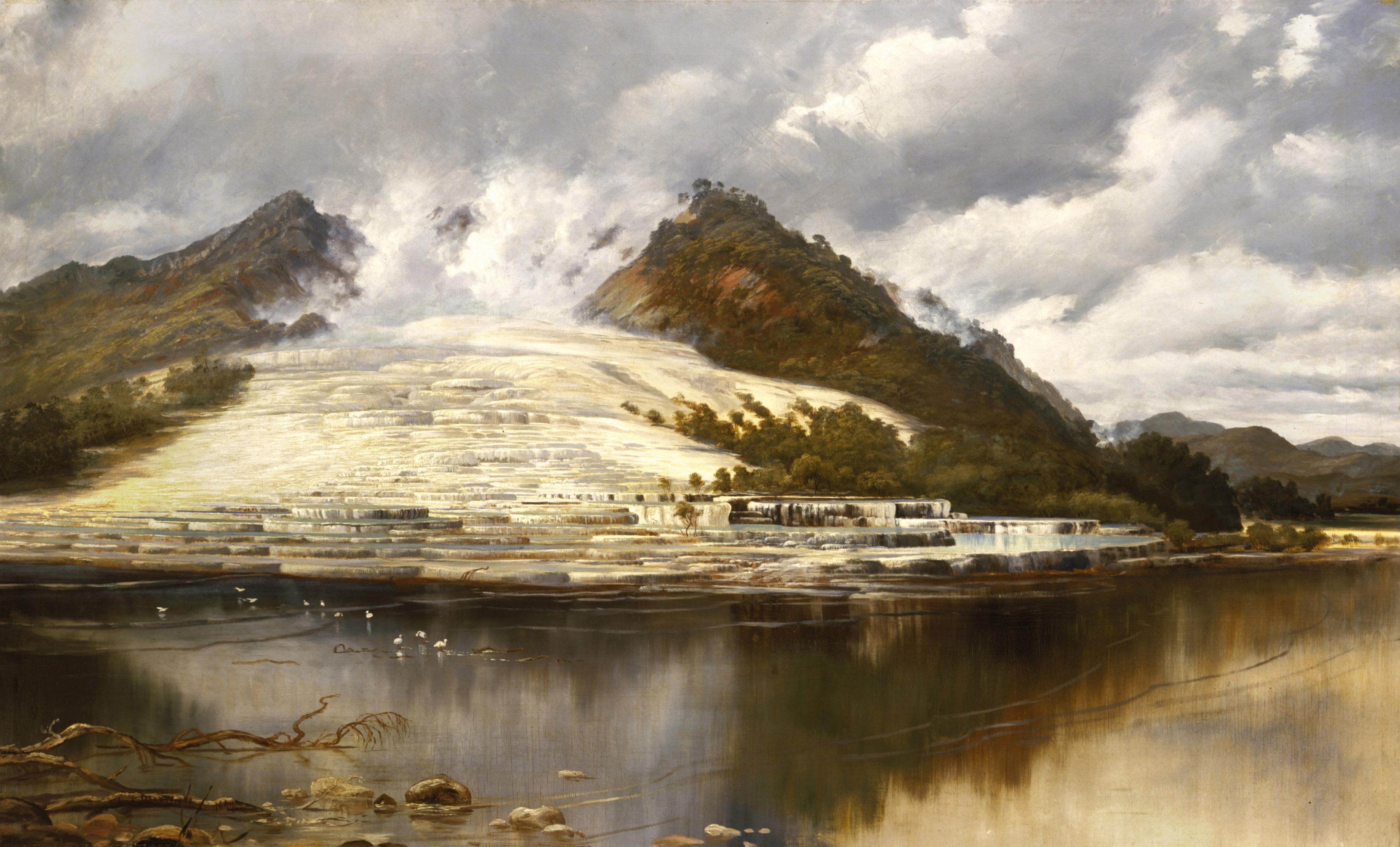 Charles Blomfield White Terrace, Lake Tarawera, Rotorua