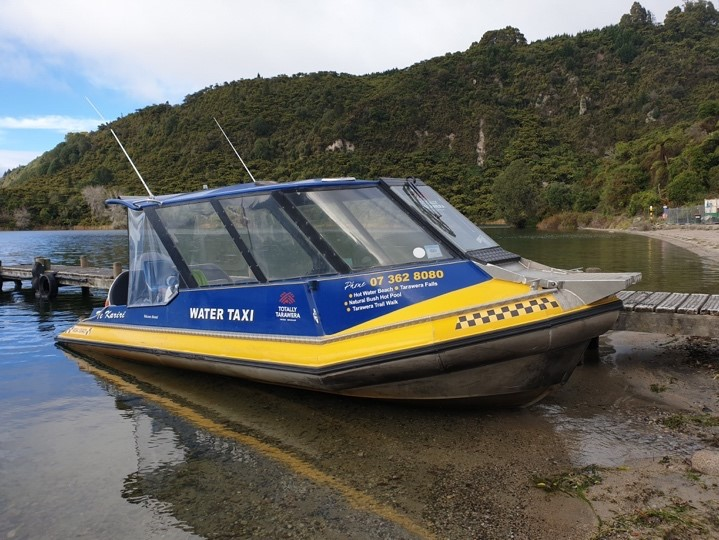Boat at Lake Tarawera